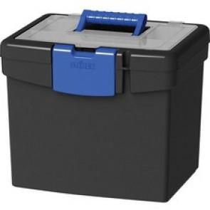Storex Storex File Storage Box, XL Storage Lid, Black/Blue (2 units/pack)