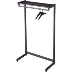 "Quartet One-Shelf Garment Rack, 36"" Black"
