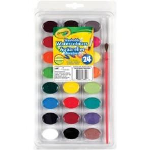 Crayola 24 Colours - Washable Watercolour Paint