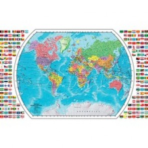 "Replogle Globes Map - 33"" (838.20 mm) Width - Blue"