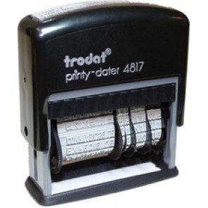 Trodat Printy Dater 4817 Dial-a-Phrase Desk Dater