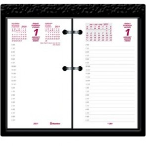 Brownline Calendar Refill - Daily - 7:00 AM to 5:30 PM - Half-hourly - 1 Day Double Page Layout