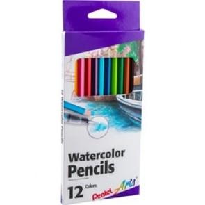 Pentel Arts Watercolor Pencil Set - Assorted Colors, 12-P
