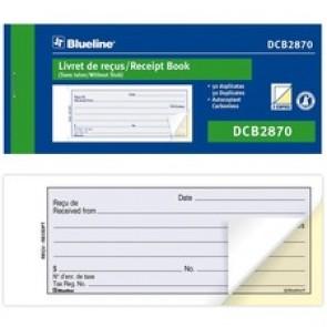 """Blueline Receipt Book - 50 Sheet(s) - 2 PartCarbonless Copy - 2.76"""" x 6.73"""" Form Size - Blue Cover - Paper"""
