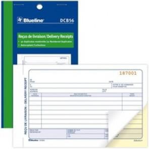 """Blueline Delivery Receipts Book - 50 Sheet(s) - 2 PartCarbonless Copy - 7.01"""" x 4.25"""" Form Size - Letter - Blue Cover - Paper"""
