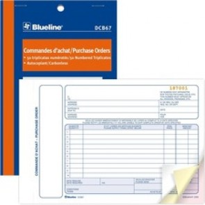 Blueline Purchase Orders Book