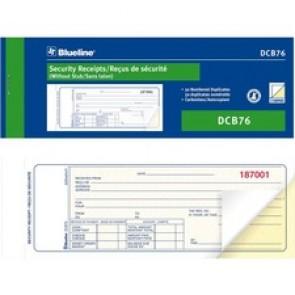 Blueline Security Receipts Book