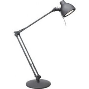 Dainolite LED Desk Lamp, Matte Black - 1 x 6 W LED Bulb - Painted Black - Adjustable, Dimmable - 460 Lumens - Plastic, Metal - Desk Mountable, Table Top - Matte Black, Black - for Desk, Table, Office, Indoor, Room, Commercial