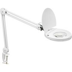 Dainolite 8W LED Magnifier Lamp, White Finish