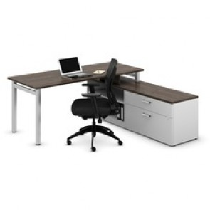 Offices To Go Ionic MLP514 L-Shaped Workstation