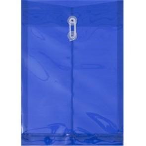 "Geocan Translucent Polyethylene Envelope - 13 1/2"" Width x 9 3/4"" Length - String Tie - Polyethylene - 1 Pack - Translucent, Blue"