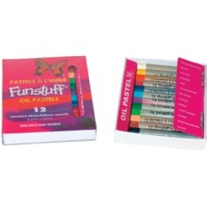 Funstuff Oil Pastels. 12 Assorted Regular Sticks - Assorted - 12