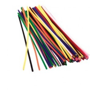 """Funstuff Chenille Stems 100 x 12"""" Assorted - Craft - 12"""" (304.80 mm) - 100 / Pack - Assorted - Chenille"""