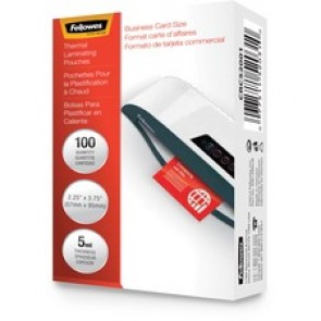Fellowes Business Card Glossy Laminating Pouches