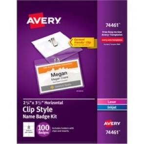 Avery&reg  Laser/Inkjet Garment Clip Name Tag Kits