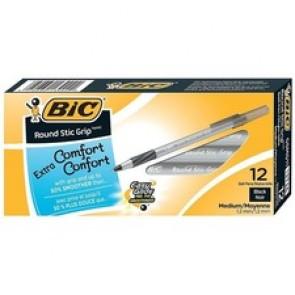 BIC Round Stic Grip Ballpoint Pen