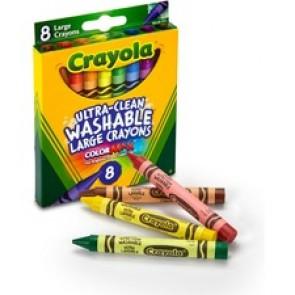 Crayola Kid's 8 Count Large Washable Crayons