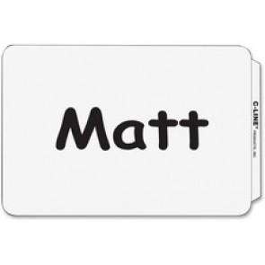 C-Line Plain White Self-adhesive Name Badges
