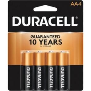 Duracell Alkaline Battery, AA, 4/Pk