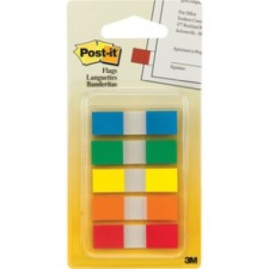 Post-it Flags, Assorted Primary Colors, 1/2 in Wide, On-the-Go Dispenser