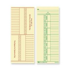 TOPS Named Days/Overtime Time Cards