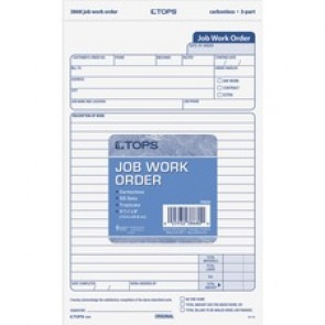 TOPS  Carbonless 3-Part Job Work Order Forms